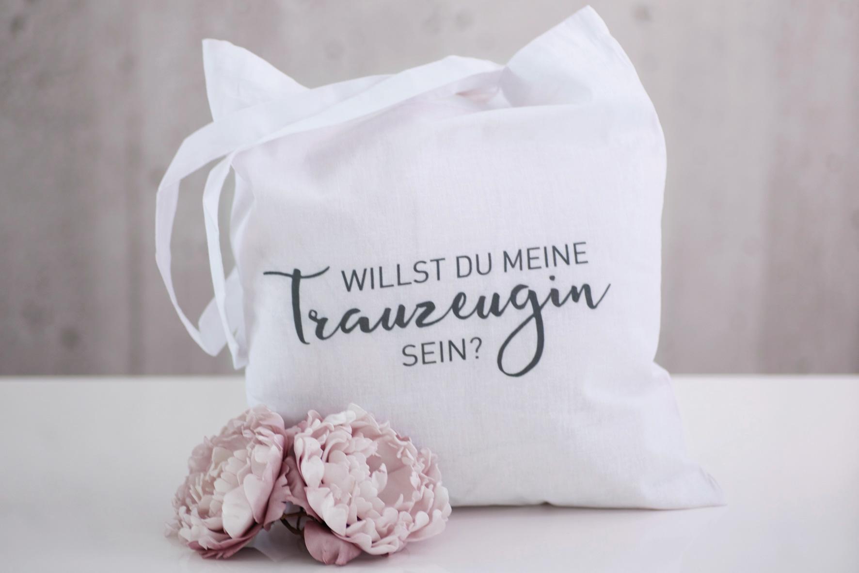 """Tasche Trauzeugin """"Weiß"""""""