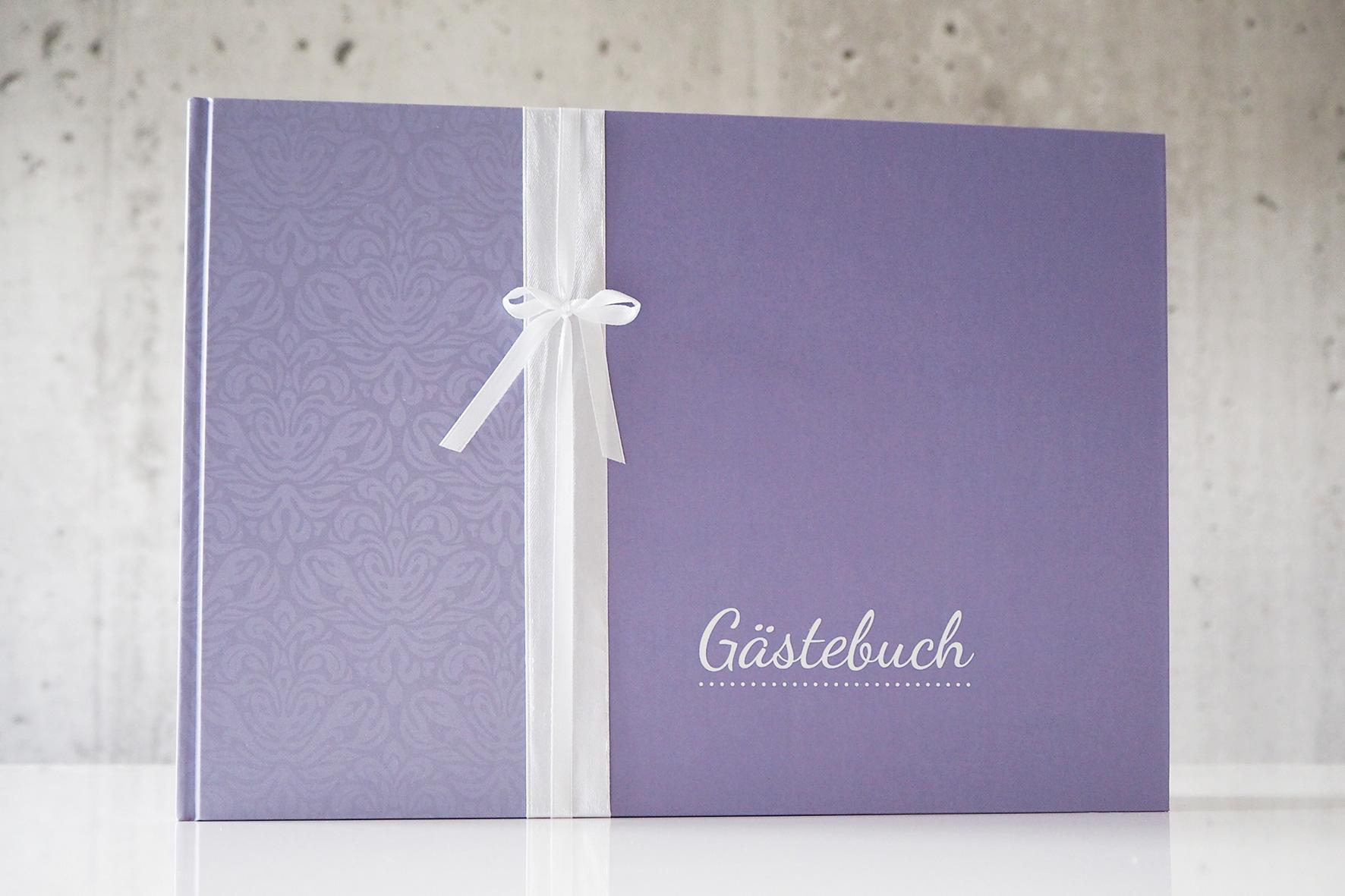 Gästebuch - Lila (mit Blanko Seiten)