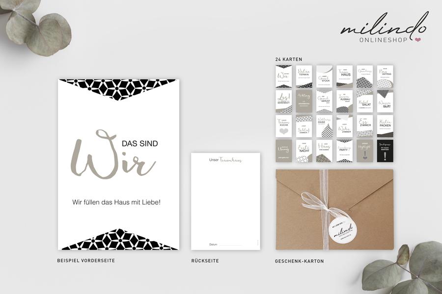 """Meilensteinkarten """"Hausbau"""" – Erinnerungskarten"""