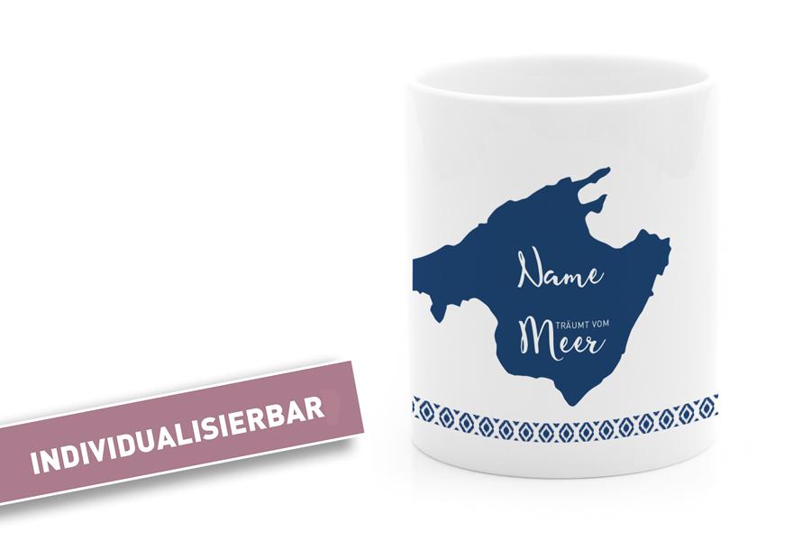 Individuelle Mallorca Tasse Blau