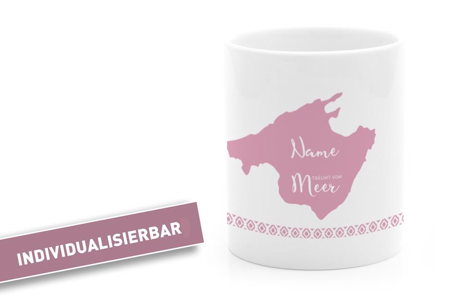 Individuelle Mallorca Tasse Rosa
