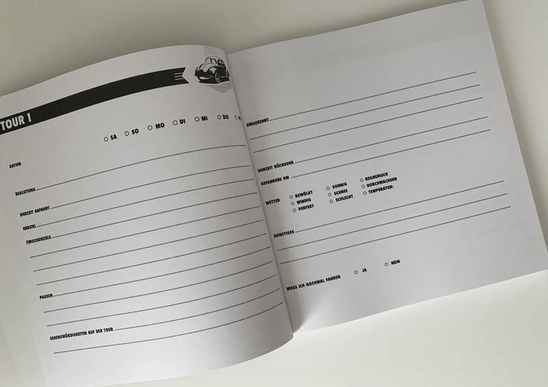 Das Routenbuch / Tourenbuch - im Retro-Style