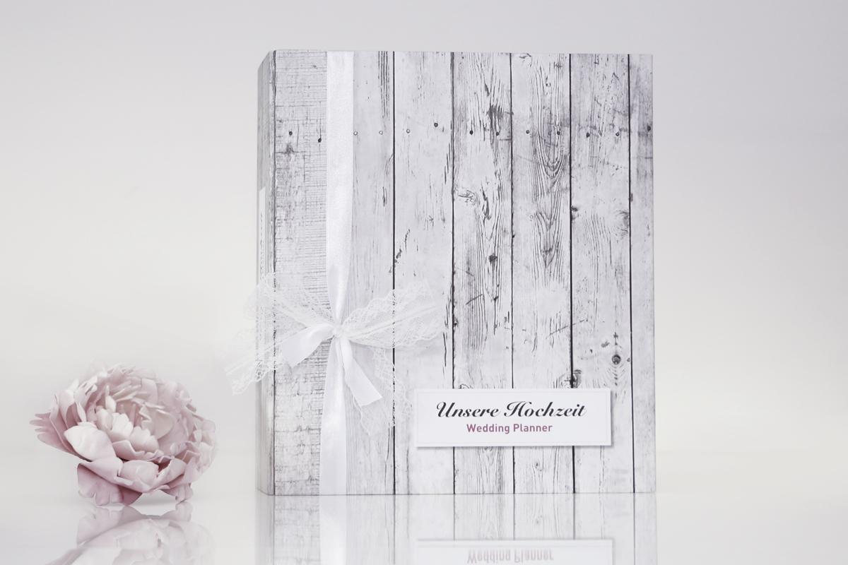 Hochzeitsplaner / Hochzeitsordner / Weddingordner - Vintage White