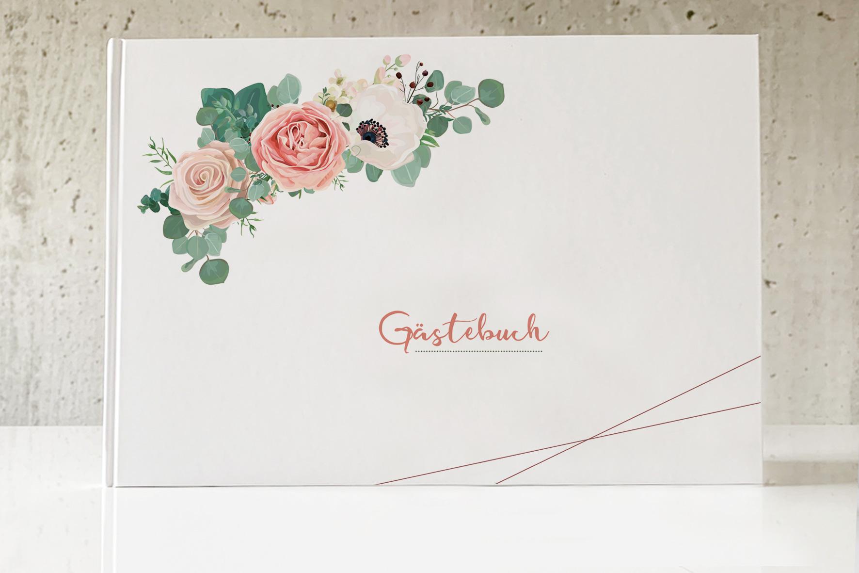 Gästebuch - Flower-Power (mit Fragen)