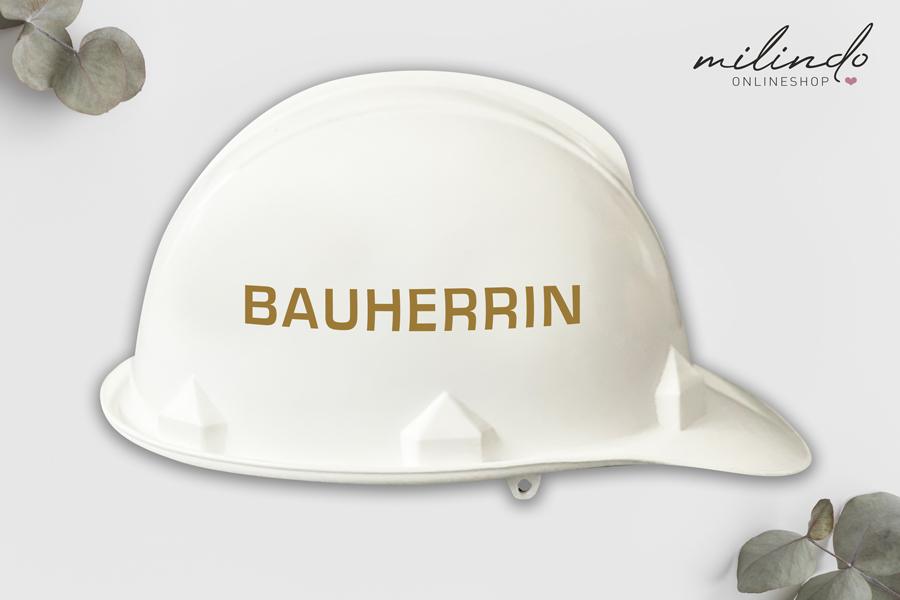 """Aufkleber """"Bauherrin"""" für Bauhelm / Farbe wählbar"""