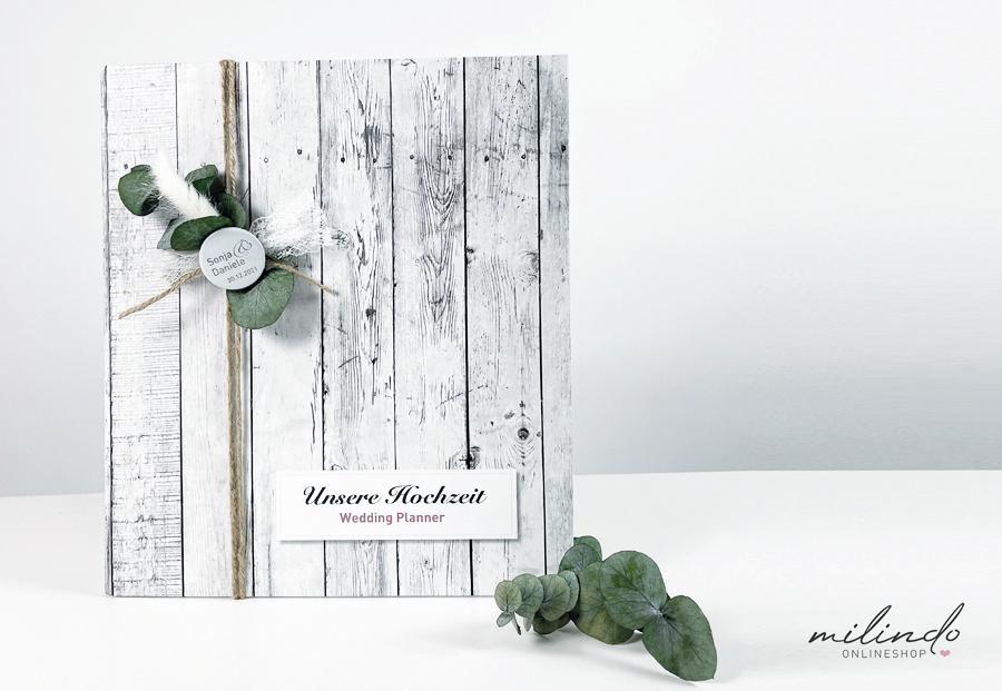 Hochzeitsplaner / Hochzeitsordner / Weddingordner - Bohostyle mit Button
